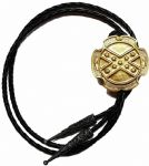 24ct Gold Plated Rebel Flag Large Bolo Tie. Code BTWW55G